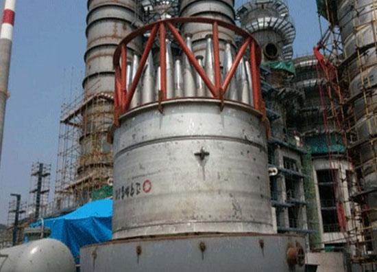 DMTO装置再生器三旋 现场吊装